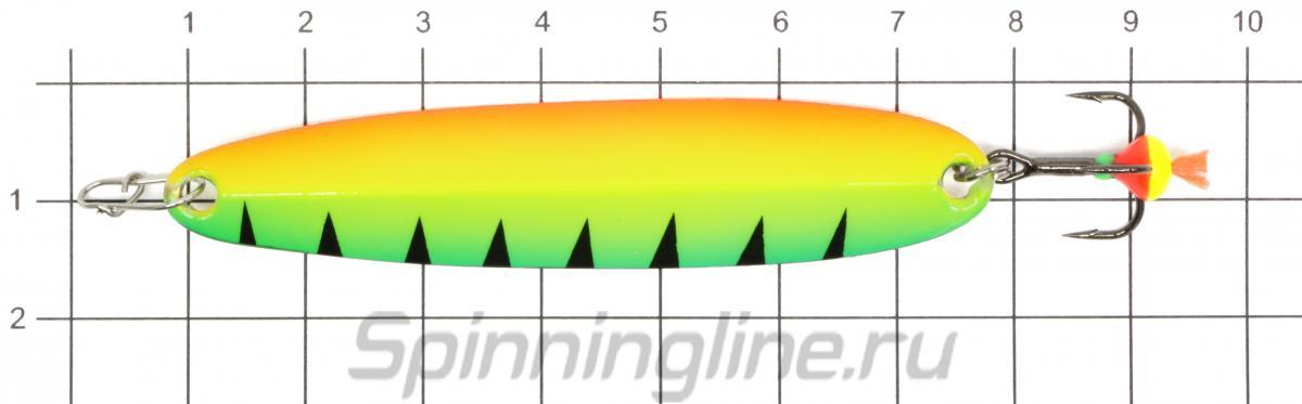 Блесна Eco Pro Судачья с глазом 70 BUS - фото на размерной линейке (цвет может отличаться) 1