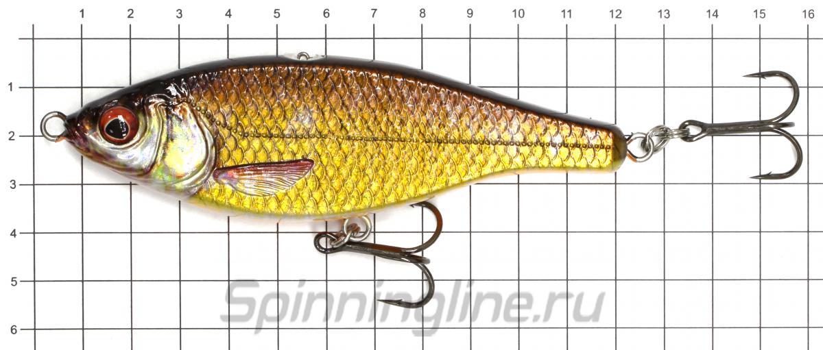 Воблер Savage Gear 3D Roach Jerkster 115 Roach - фото на размерной линейке (цвет может отличаться) 1