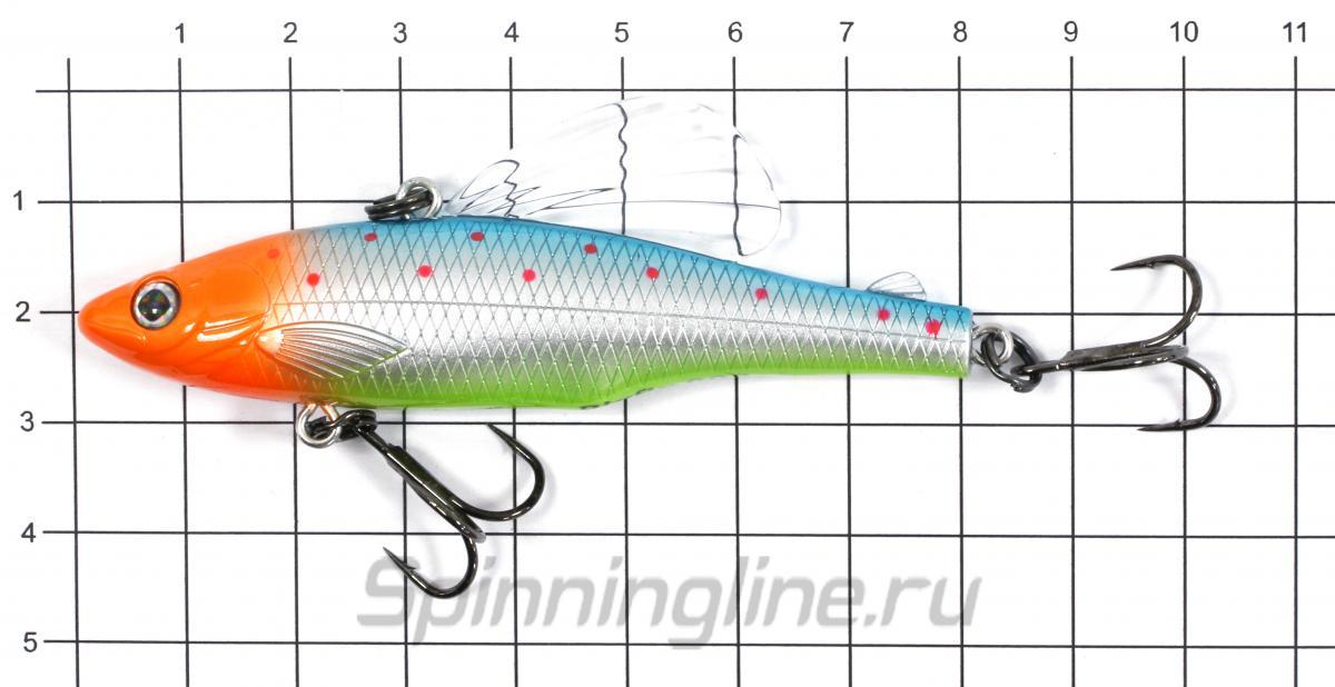 Воблер Usami Bigfin 80S 615 - фото на размерной линейке (цвет может отличаться) 1