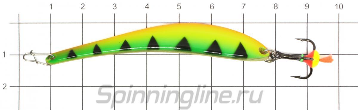 Блесна Eco Pro Dancer 70 S/G тройник - фото на размерной линейке (цвет может отличаться) 1
