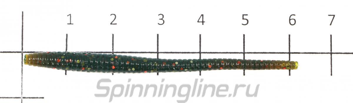 Приманка Wiggler Worm 58/MIX1 - фото на размерной линейке (цвет может отличаться) 1