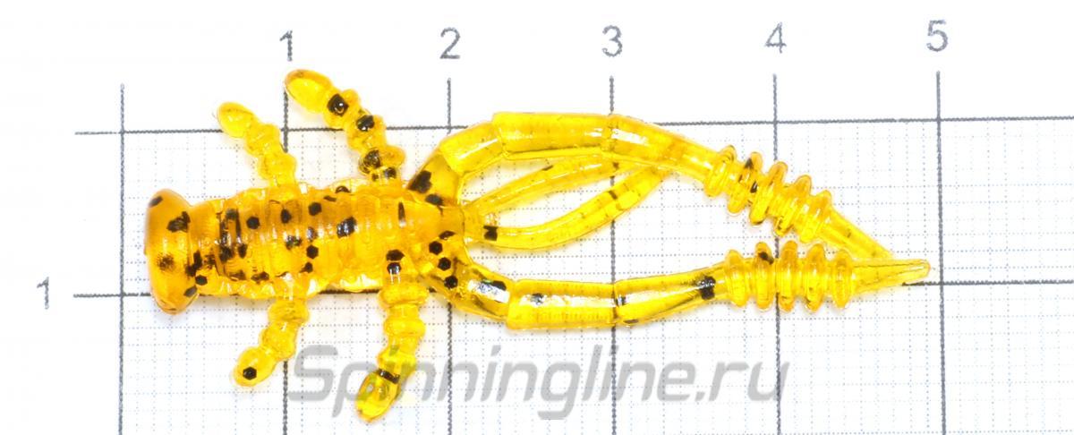 """Приманка LureMax Voodoo Bug 2"""" Motor Oil - фото на размерной линейке (цвет может отличаться) 1"""
