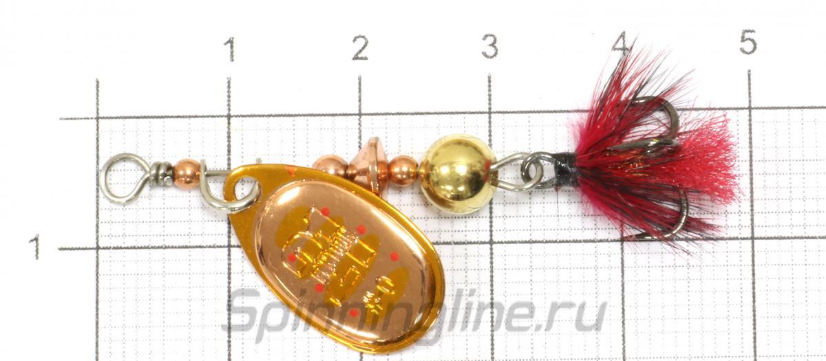 Блесна Pontoon21 Ball Concept 0 B03-002 - фото на размерной линейке (цвет может отличаться) 1