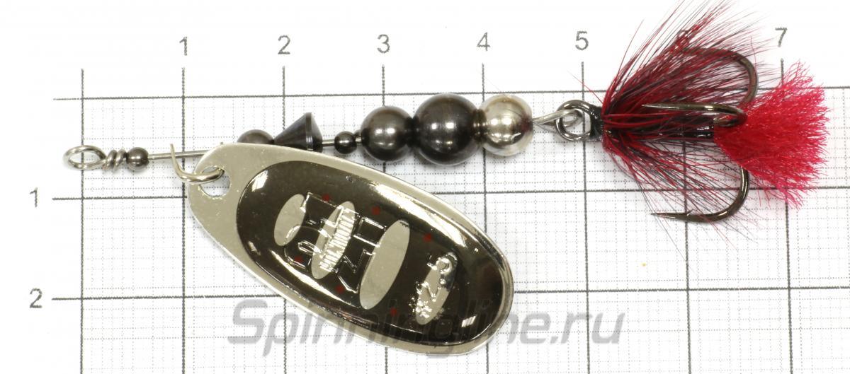 Блесна Ball Concept 2.5 BT01-054 - фото на размерной линейке (цвет может отличаться) 1