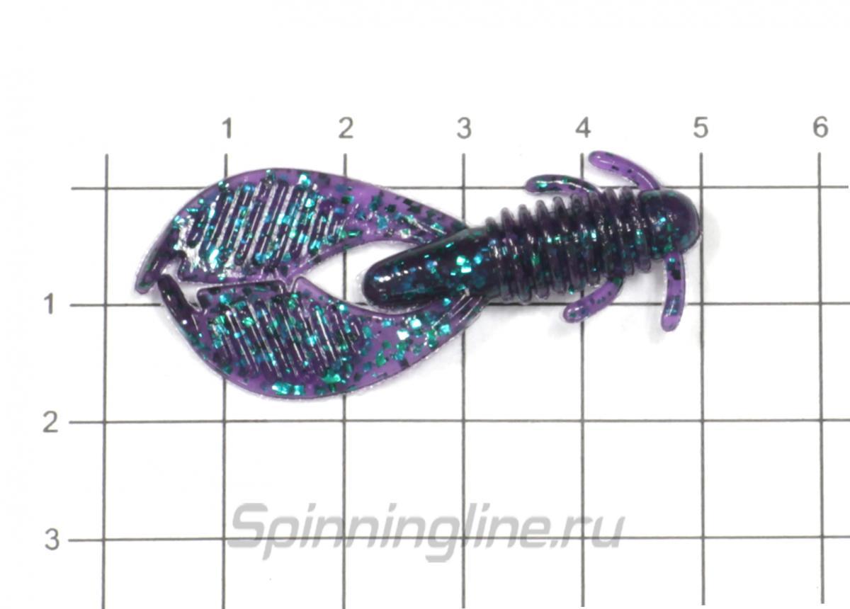 """Приманка Reins AX Craw 2"""" Mini 419 Chart Pepper - фото на размерной линейке (цвет может отличаться) 1"""