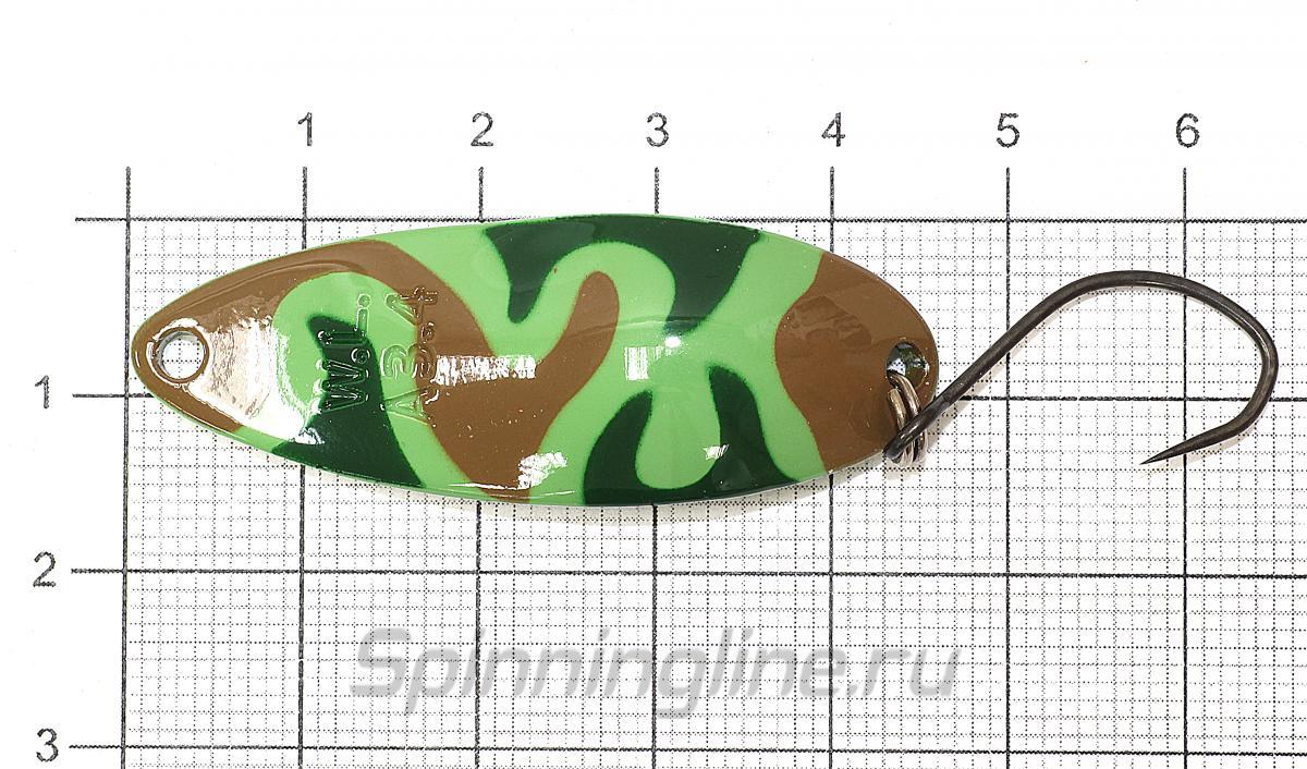 Блесна Waterland Almin 3,4гр B12 - фото на размерной линейке (цвет может отличаться) 1
