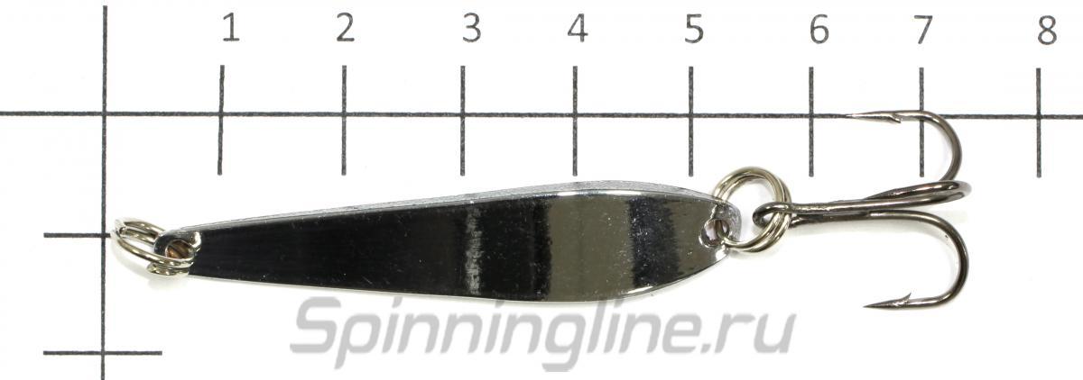 Блесна KOI Ice Circle 50 001-002 - фото на размерной линейке (цвет может отличаться) 1