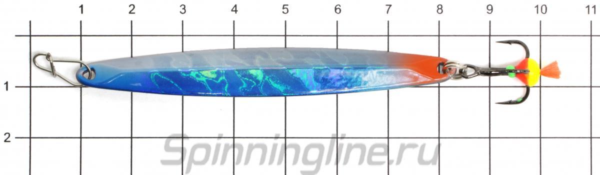 Блесна Eco Pro Era 75 S/G - фото на размерной линейке (цвет может отличаться) 1
