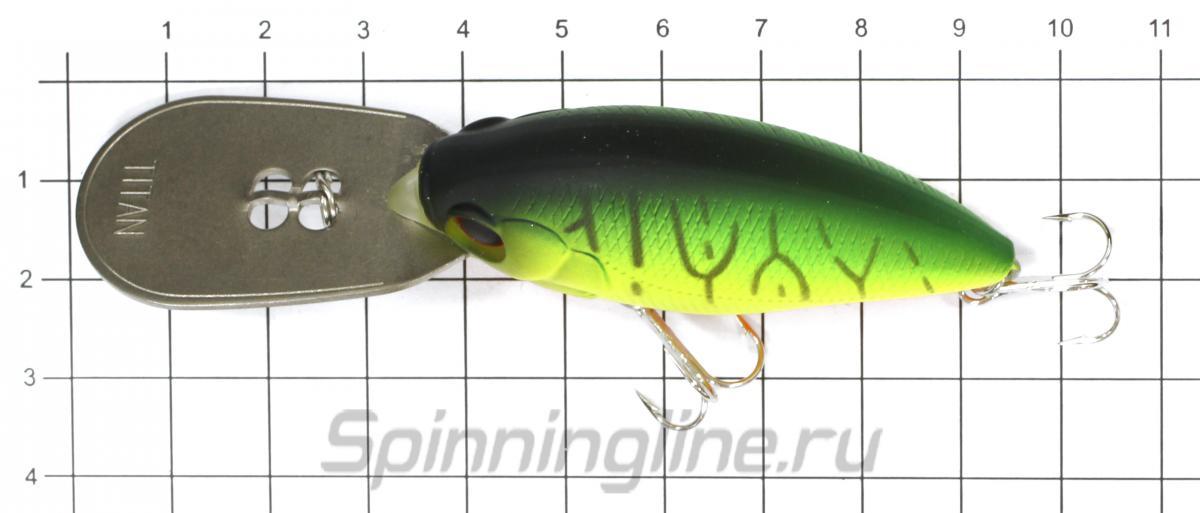 Воблер TD Hyper Crank Dragger-G 2064 FG ghost ayu - фото на размерной линейке (цвет может отличаться) 1