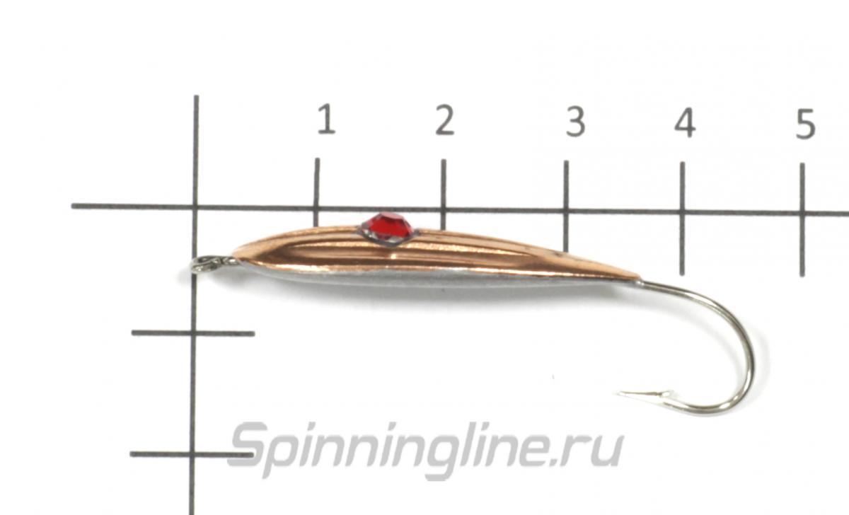 Блесна Sprut Adele 5,4гр Nickel - фото на размерной линейке (цвет может отличаться) 1