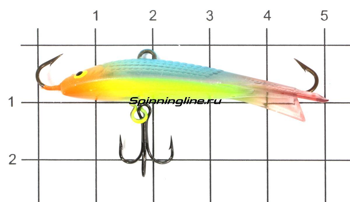 Балансир Kuusamo Tasapaino X-Pro Light 50мм RB/BLU/FYe/FR, UV - фото на размерной линейке (цвет может отличаться) 1