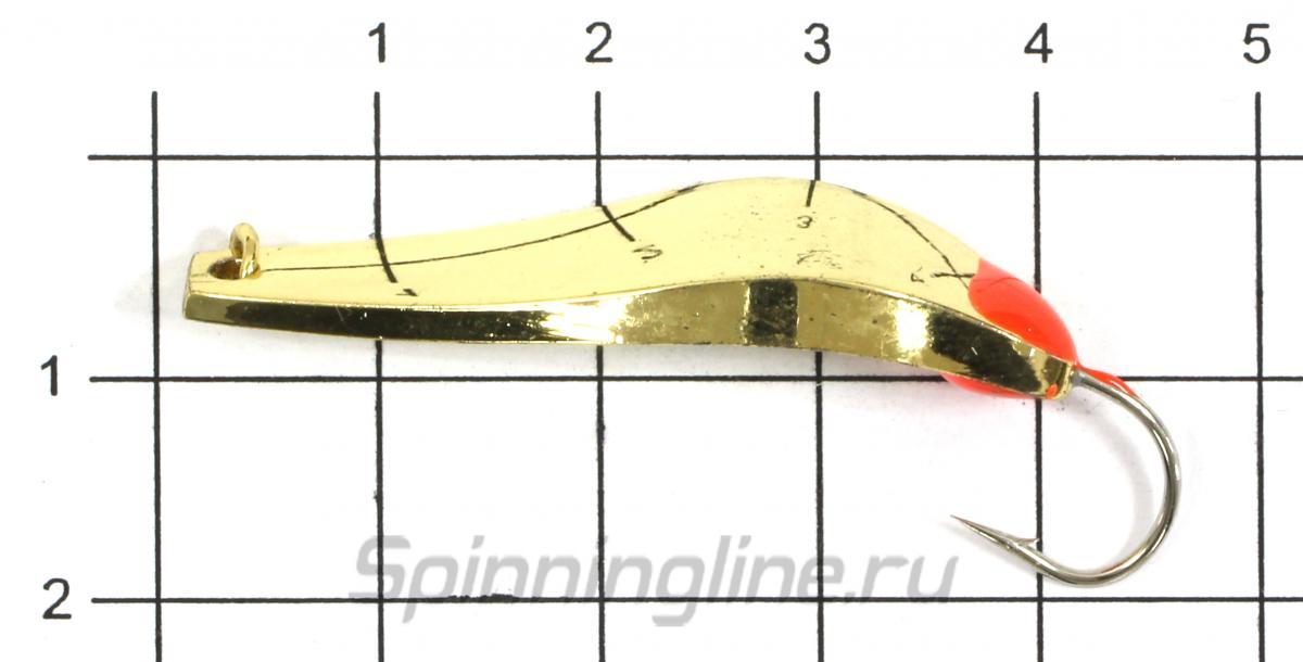 Блесна Shark Пиявка 318-S/1 7,5гр S - фото на размерной линейке (цвет может отличаться) 1