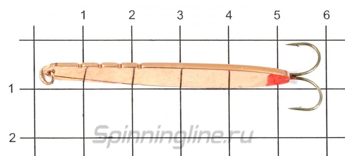 Блесна Shark Ребристая 309-S/2 3,95гр S - фото на размерной линейке (цвет может отличаться) 1