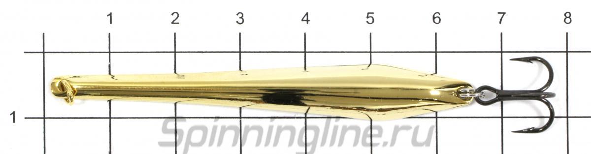 Блесна Shark Скользящая 8гр G - фото на размерной линейке (цвет может отличаться) 1