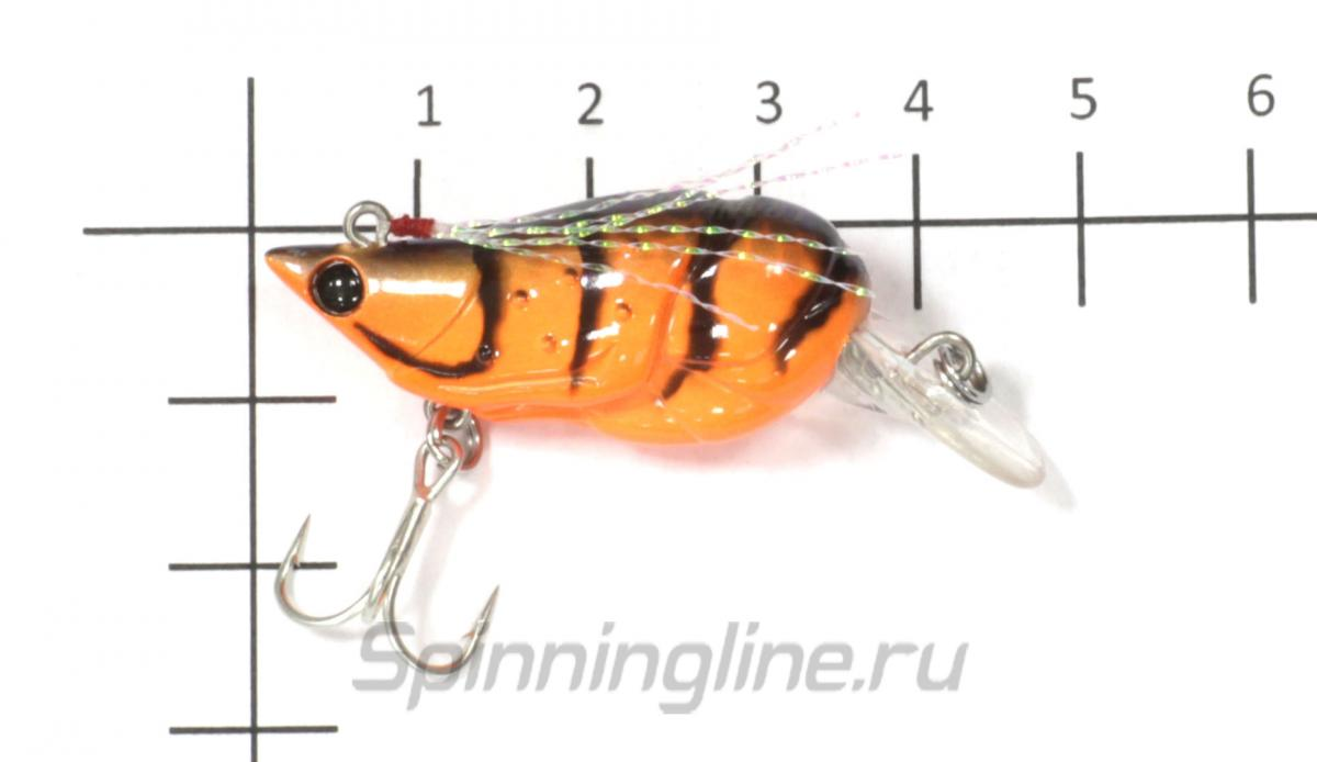 Воблер D-stream Chinu Crank 36F Orange Shrimp - фото на размерной линейке (цвет может отличаться) 1