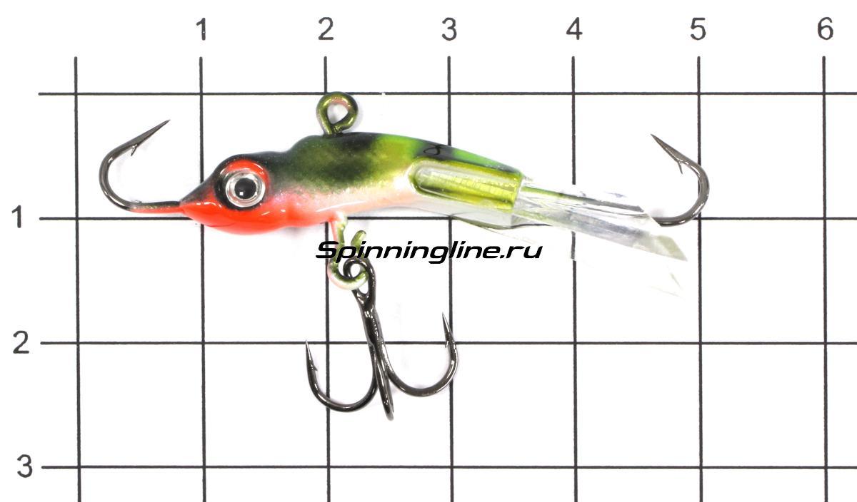 Балансир Рыболов-Олта Горбач 50 7гр Тропическая жаба - фото на размерной линейке (цвет может отличаться) 1