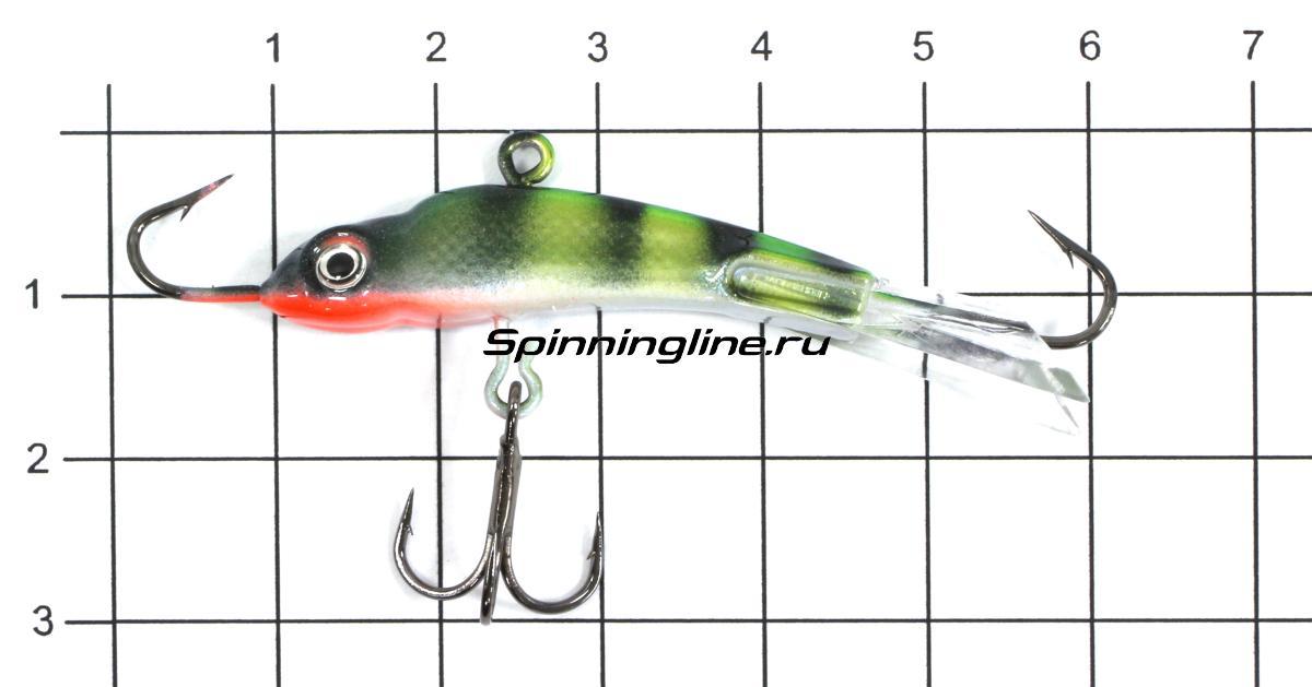 Балансир Рыболов-Олта Горбач 60 10гр Тропическая жаба - фото на размерной линейке (цвет может отличаться) 1