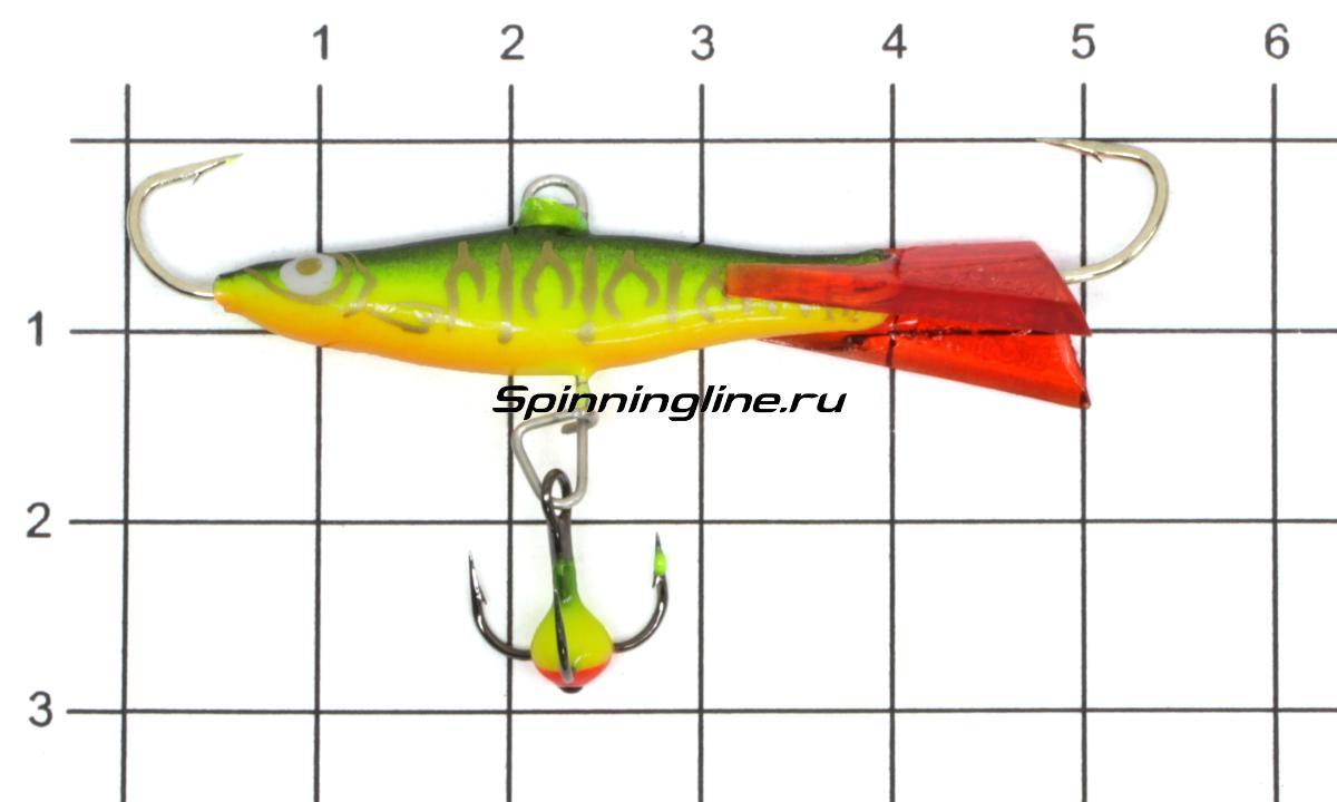 Балансир Lucky John Viking 4+тройник 02H - фото на размерной линейке (цвет может отличаться) 1