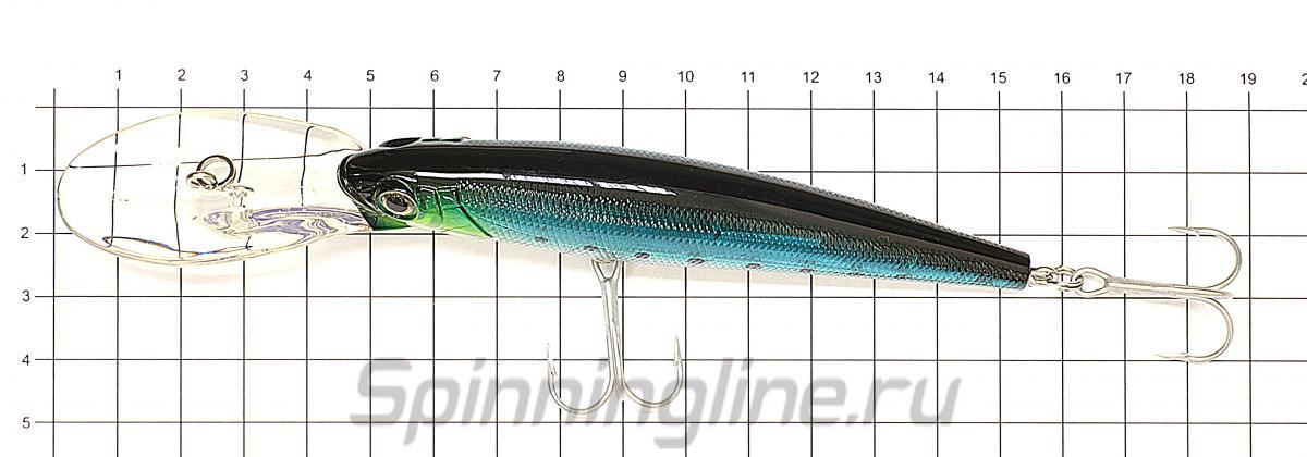 Воблер Killer Bite 110 23 - фото на размерной линейке (цвет может отличаться) 1