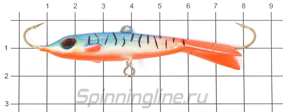 Балансир Surf с монолитным хвостом №2-4 фосфор 33 - фото на размерной линейке (цвет может отличаться) 1