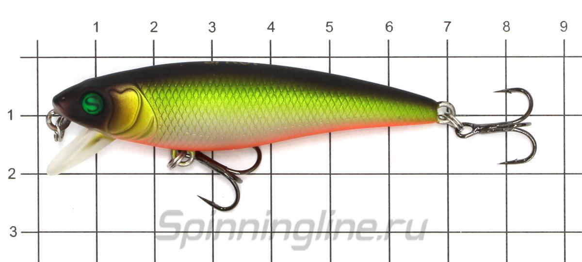 Воблер Sprut Sagami 65SP WLP - фото на размерной линейке (цвет может отличаться) 1