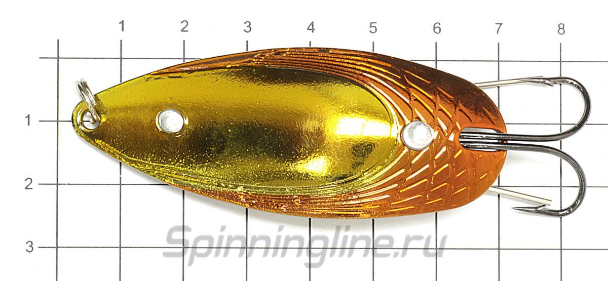 Блесна Garry Angler The Bait 14гр 07 - фото на размерной линейке (цвет может отличаться) 1