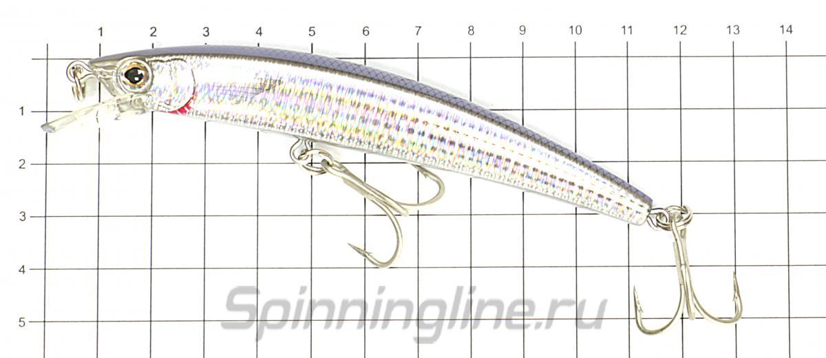 Воблер Crystal Minnow F1009 110SP C4 - фото на размерной линейке (цвет может отличаться) 1