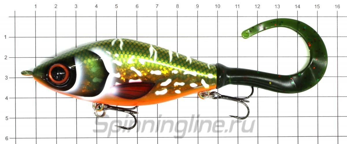 Воблер Strike Pro EG-208B Burgers Bird- Pearl White TR-001 - фото на размерной линейке (цвет может отличаться) 1