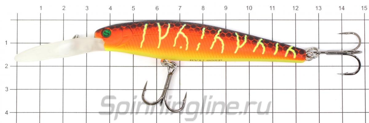 Воблер Sprut Ryu 90SP PNLBP - фото на размерной линейке (цвет может отличаться) 1