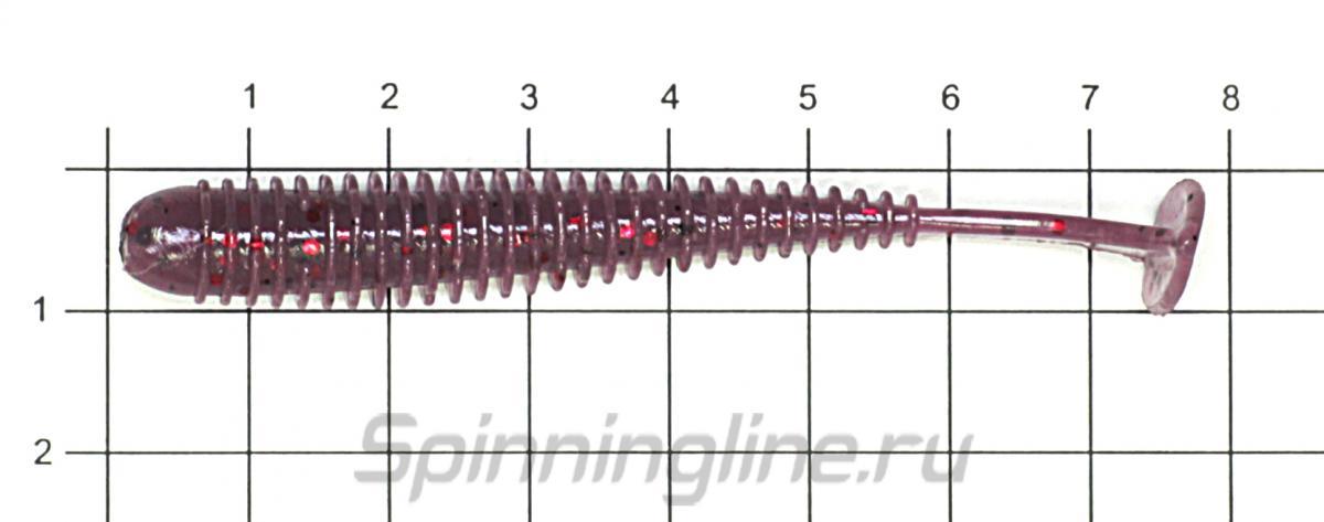 """Приманка Azura Longer 3"""" Watermelon - фото на размерной линейке (цвет может отличаться) 1"""