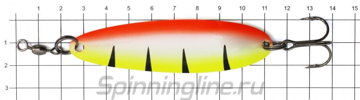 Блесна Akara Kola 90 16гр AB47 - фото на размерной линейке (цвет может отличаться) 1