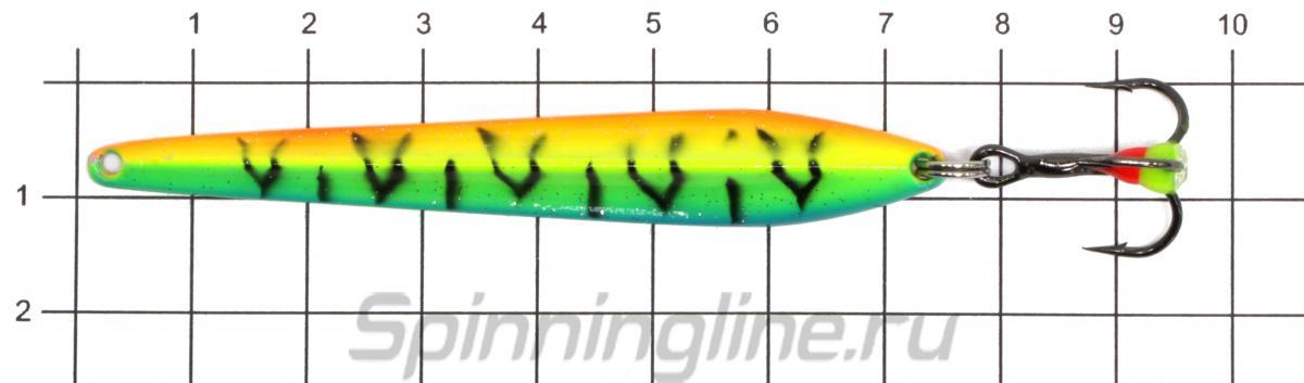 Блесна Sprut Cameron 75 FT1 - фото на размерной линейке (цвет может отличаться) 1
