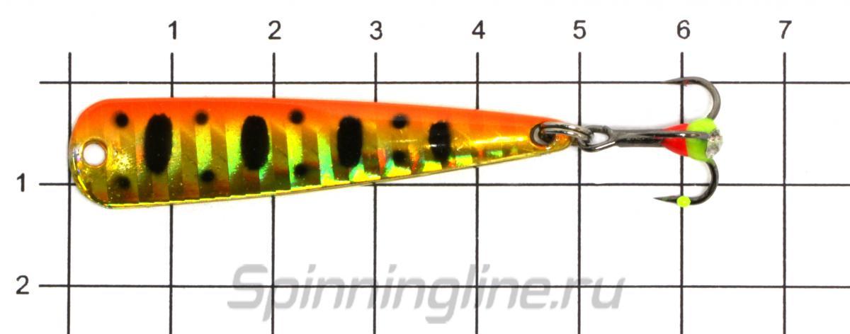 Блесна Sprut Pelican 50 SBK - фото на размерной линейке (цвет может отличаться) 1