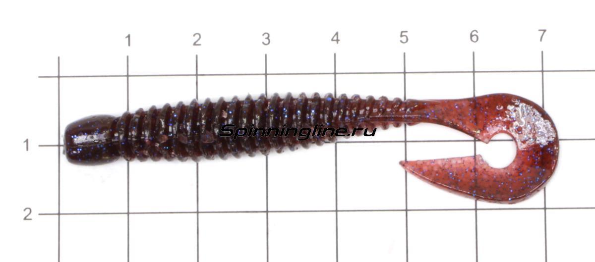 """Приманка Jackall Wobbring 3"""" cola bluegill - фото на размерной линейке (цвет может отличаться) 1"""