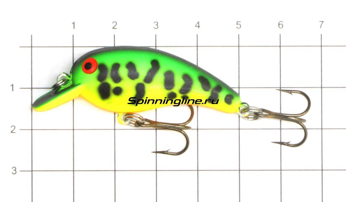 Воблер Cotton Cordell Big O 76.2 Perch - фото на размерной линейке (цвет может отличаться) 1