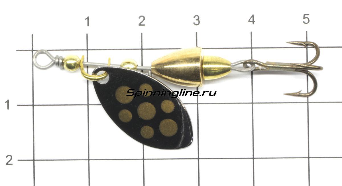 Блесна Norstream Akkai Spinner 3гр SV - фото на размерной линейке (цвет может отличаться) 1