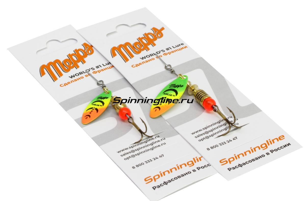 Блесна Mepps Aglia Longue Rainbo 0 BL 2,5гр - Данное фото демонстрирует вид упаковки, а не товара. Товар на фото может отличаться по цвету, комплектации и т.д. Дизайн упаковки может быть изменен производителем 1