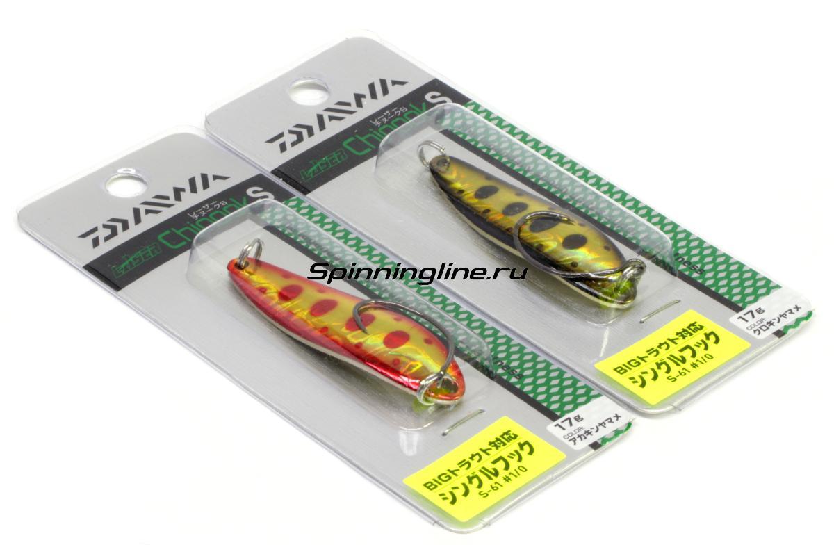 Блесна Daiwa L Chinook S 17 Mazume - Данное фото демонстрирует вид упаковки, а не товара. Товар на фото может отличаться по цвету, комплектации и т.д. Дизайн упаковки может быть изменен производителем 1