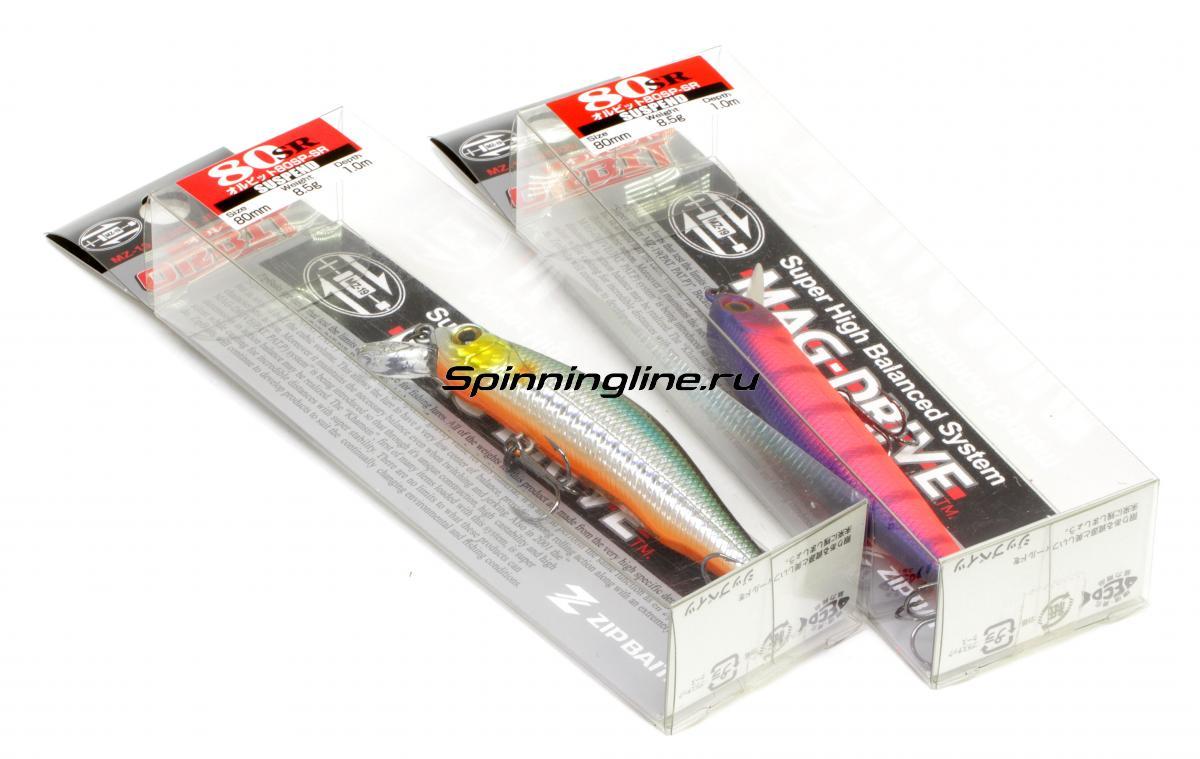 Воблер Zipbaits Orbit 80SP-SR 522R - Данное фото демонстрирует вид упаковки, а не товара. Товар на фото может отличаться по цвету, комплектации и т.д. Дизайн упаковки может быть изменен производителем 1