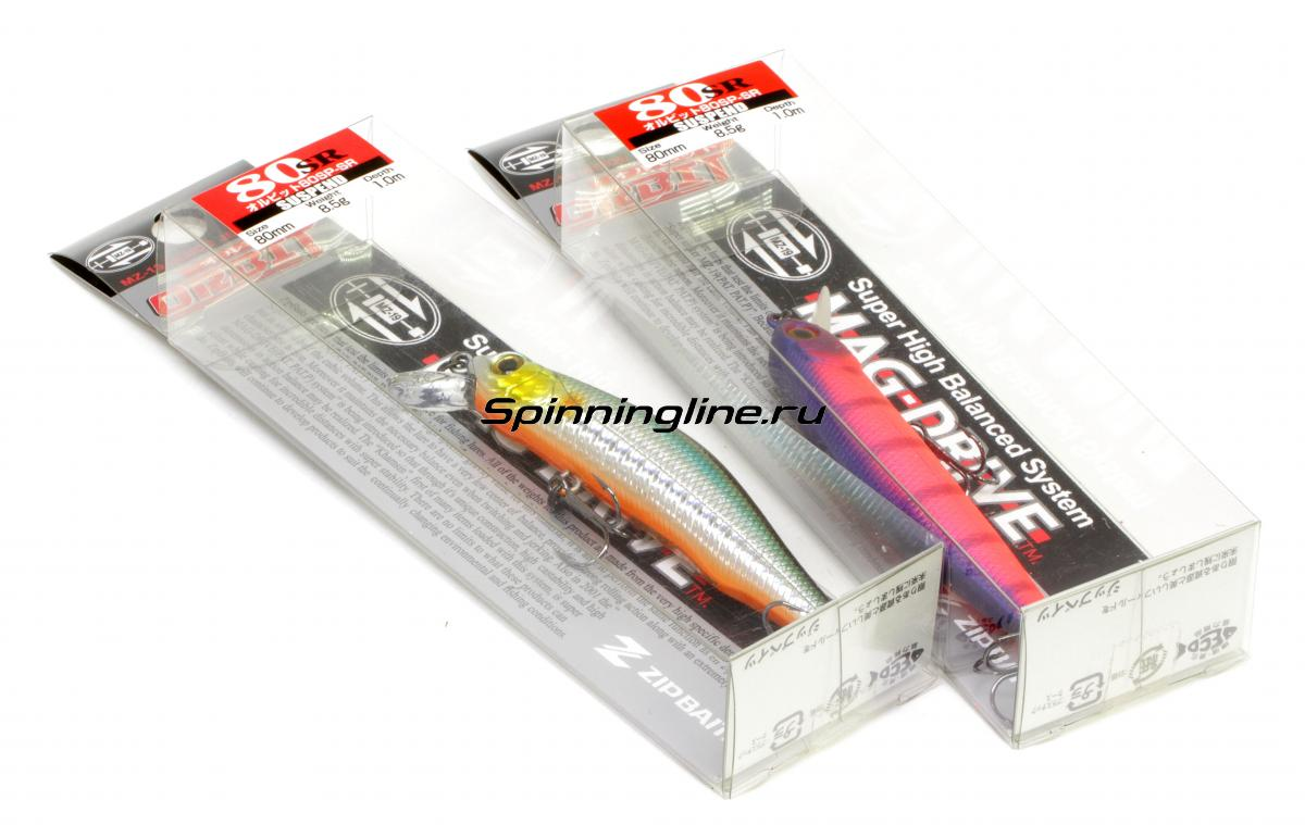 Воблер Zipbaits Orbit 80SP-SR 050 - Данное фото демонстрирует вид упаковки, а не товара. Товар на фото может отличаться по цвету, комплектации и т.д. Дизайн упаковки может быть изменен производителем 1