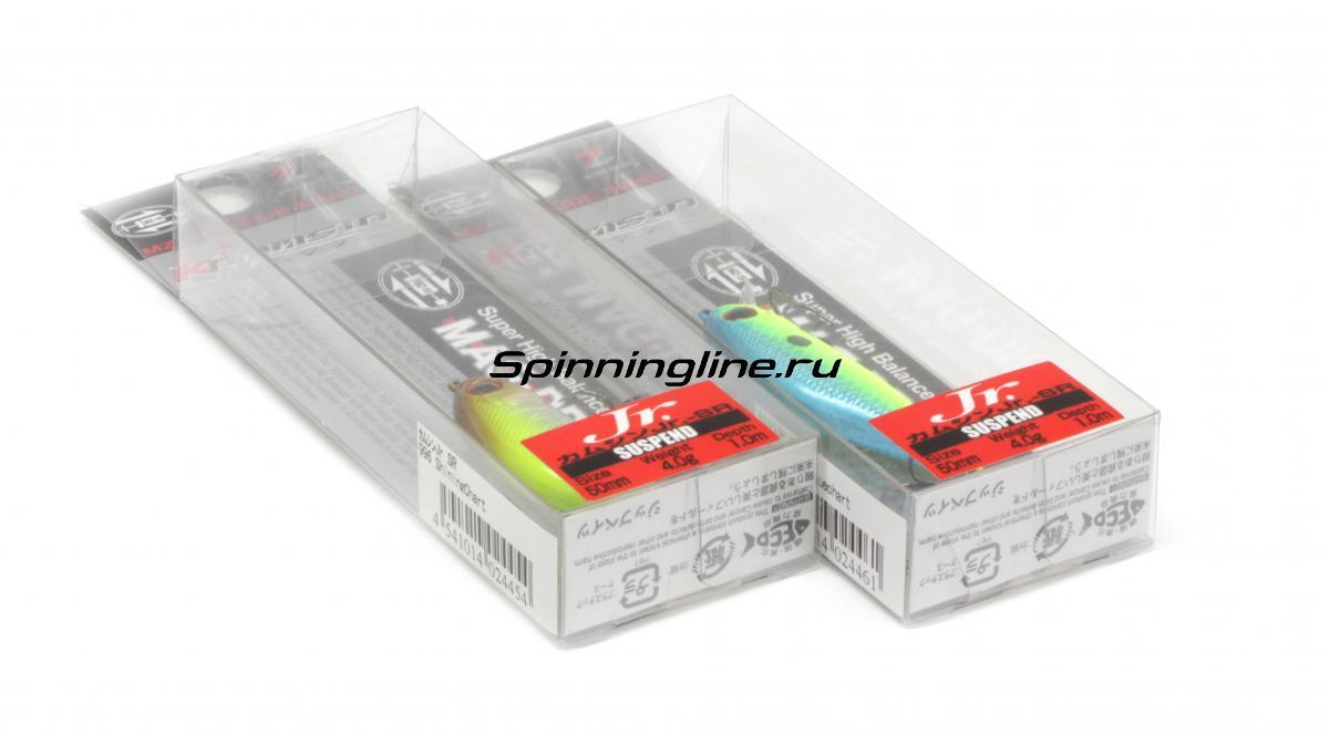 Воблер Zipbaits Khamsin Jr. 50 SR 010 - Данное фото демонстрирует вид упаковки, а не товара. Товар на фото может отличаться по цвету, комплектации и т.д. Дизайн упаковки может быть изменен производителем 1