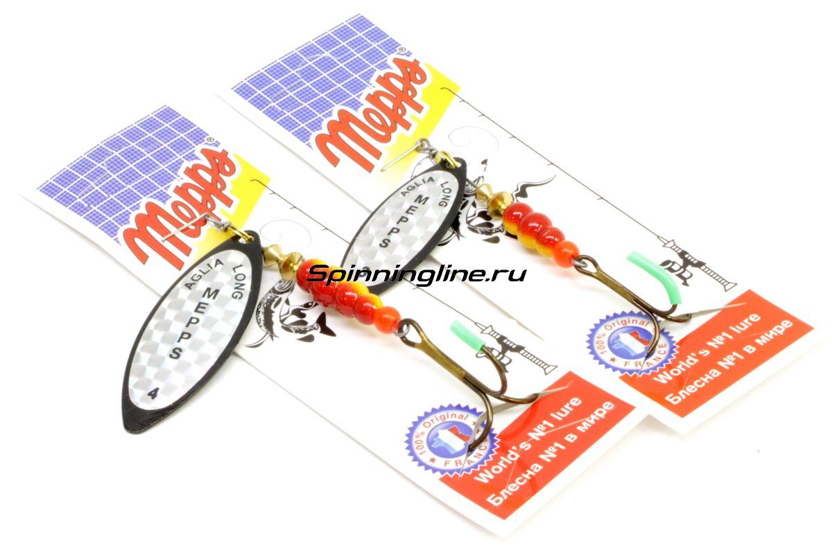 Блесна Mepps Aglia Longue 3 G 11,5гр - Данное фото демонстрирует вид упаковки, а не товара. Товар на фото может отличаться по цвету, комплектации и т.д. Дизайн упаковки может быть изменен производителем 1