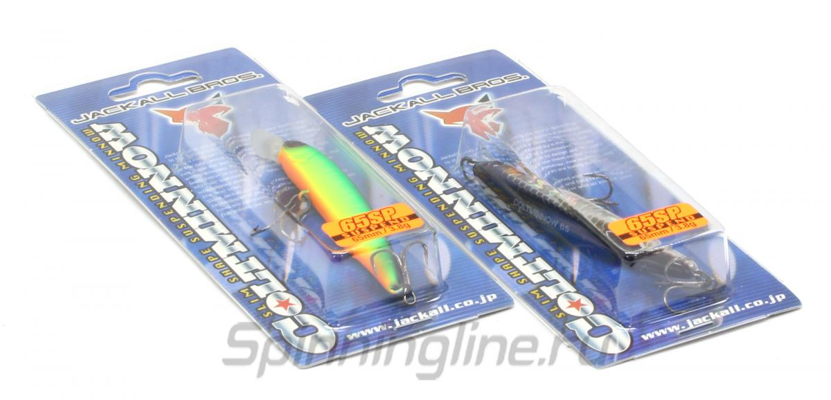 Воблер Jackall Colt Minnow 65 SP ko ayu - Данное фото демонстрирует вид упаковки, а не товара. Товар на фото может отличаться по цвету, комплектации и т.д. Дизайн упаковки может быть изменен производителем 1