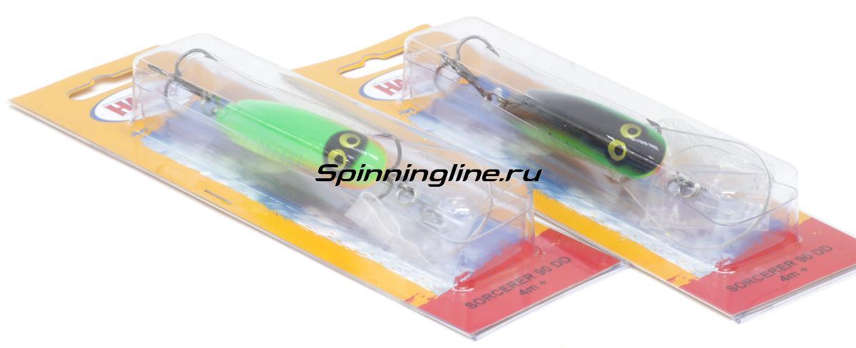Воблер Halco Sorcerer 090 DD-R04 - Данное фото демонстрирует вид упаковки, а не товара. Товар на фото может отличаться по цвету, комплектации и т.д. Дизайн упаковки может быть изменен производителем 1