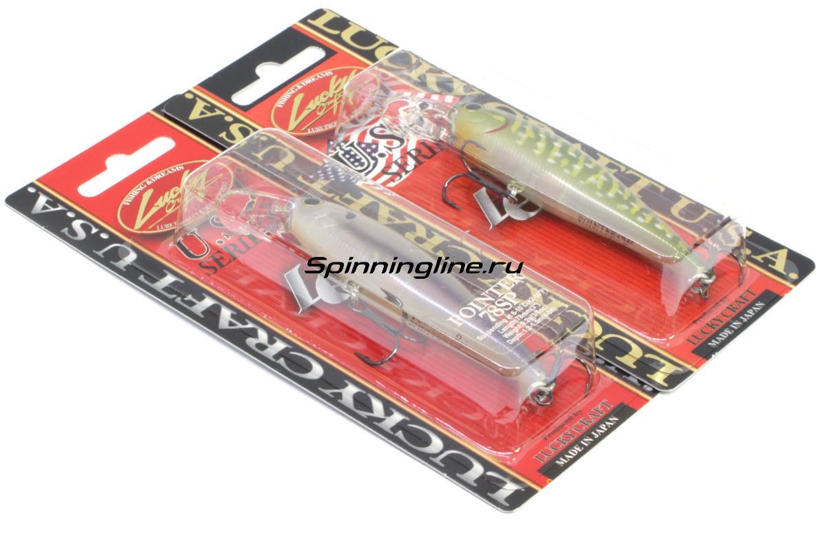 Воблер Lucky Craft Pointer 78 Aurora Gold 256 - Данное фото демонстрирует вид упаковки, а не товара. Товар на фото может отличаться по цвету, комплектации и т.д. Дизайн упаковки может быть изменен производителем 1