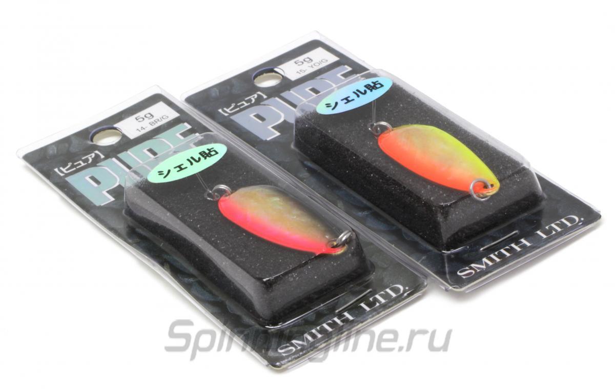 Блесна Smith Pure Shell 5гр 8 BK/G - Данное фото демонстрирует вид упаковки, а не товара. Товар на фото может отличаться по цвету, комплектации и т.д. Дизайн упаковки может быть изменен производителем 1