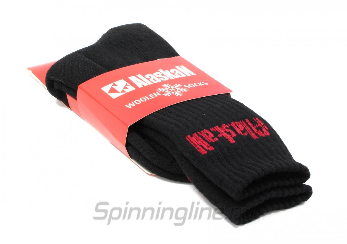Носки Alaskan черные М - Данное фото демонстрирует вид упаковки, а не товара. Товар на фото может отличаться по цвету, комплектации и т.д. Дизайн упаковки может быть изменен производителем 1