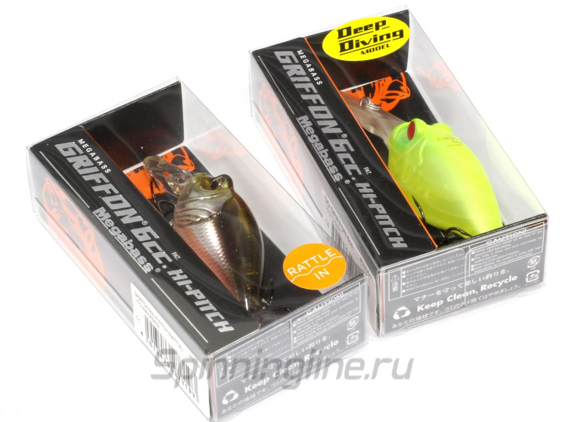 Воблер Griffon 6 CC Hi Pitch Rattle glxs spring reaction - фотография упаковки 1