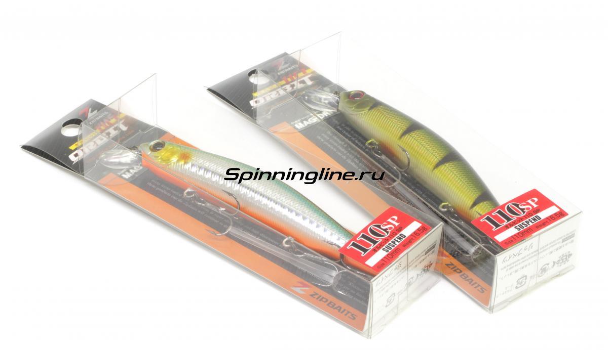 Воблер Zipbaits Orbit 110SP-SR 070 - Данное фото демонстрирует вид упаковки, а не товара. Товар на фото может отличаться по цвету, комплектации и т.д. Дизайн упаковки может быть изменен производителем 1