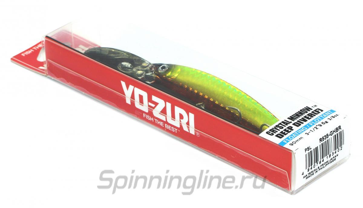 Воблер Yo-Zuri/Duel Crystal Minnow DD R538 GB - Данное фото демонстрирует вид упаковки, а не товара. Товар на фото может отличаться по цвету, комплектации и т.д. Дизайн упаковки может быть изменен производителем 1